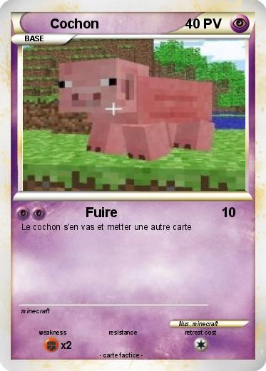 Pok mon cochon 142 142 fuire ma carte pok mon - Cochon pokemon ...