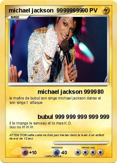 Pok mon michael jackson 99999999 3 3 michael jackson 9999 ma carte pok mon - Coloriage michael jackson ...