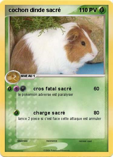 Pok mon cochon dinde sacre cros fatal sacr ma carte - Cochon pokemon ...
