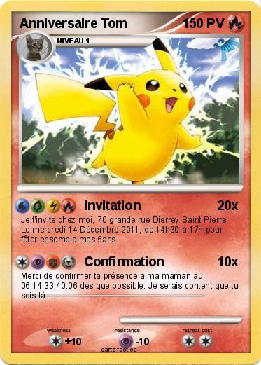 Langue de la carte francais date de creation 6 decembre - Carte de pokemon a imprimer ...