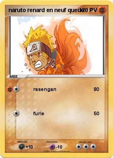 Pok mon naruto renard en neuf queue rasengan ma carte - Naruto renard ...