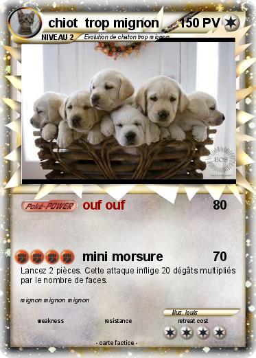 Pok mon chiot trop mignon ouf ouf ma carte pok mon - Coloriage de chiot trop mignon ...