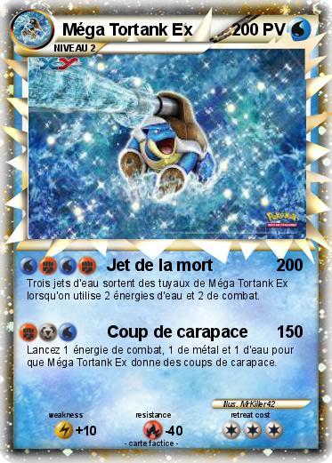 Pok mon mega tortank ex 3 3 jet de la mort ma carte pok mon - Tortank pokemon y ...