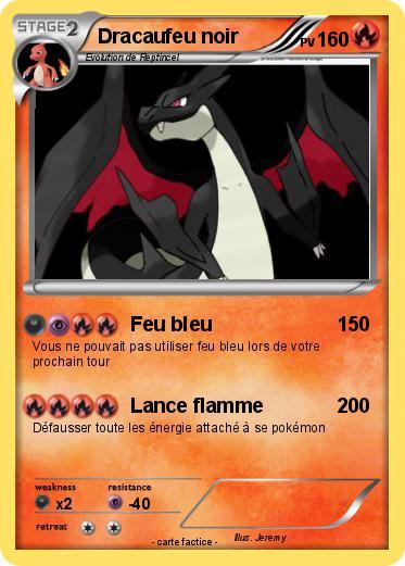 Pok mon dracaufeu noir 30 30 feu bleu ma carte pok mon - Pierre feu pokemon noir ...