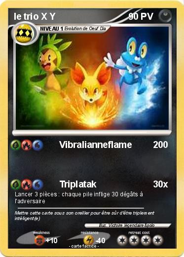 Pok mon le trio x y vibralianneflame ma carte pok mon - Pokemon x et y legendaire ...
