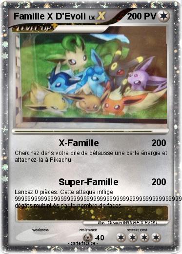 Pok mon famille x d evoli 1 1 x famille ma carte pok mon - Pokemon famille d evoli ...