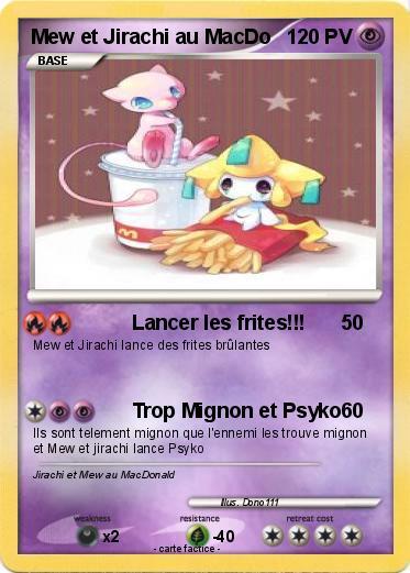 Pok mon mew et jirachi au macdo lancer les frites - Carte pokemon jirachi ...