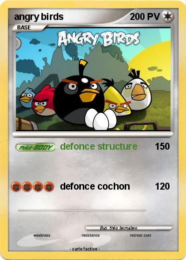 Pok mon angry birds 333 333 defonce structure ma carte pok mon - Angry birds noel ...