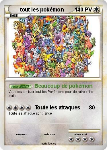 Pok mon tout les pokemon 6 6 beaucoup de pok mon ma carte pok mon - Tout les carte pokemon ex ...