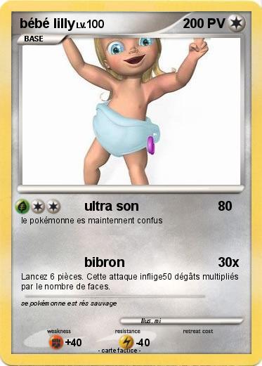 Bébé Lilly  dans Carte Pokemon en autres personnages V13vqCDBAIiV