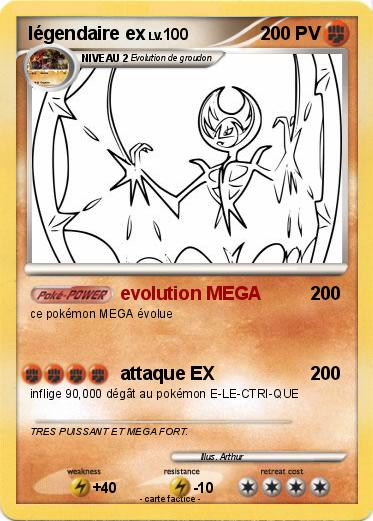 Pok mon legendaire ex 1 1 evolution mega ma carte pok mon - Carte pokemon legendaire ex ...