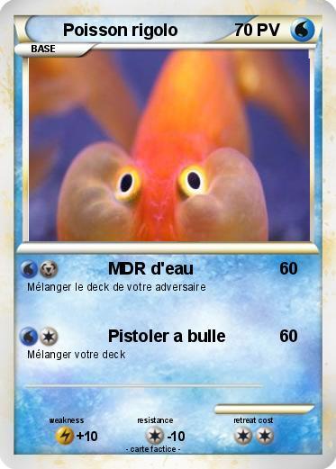 Pok mon poisson rigolo mdr d 39 eau ma carte pok mon - Poisson rouge rigolo ...