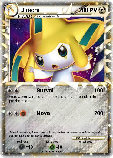 Pok mon jirachi 1181 1181 survol ma carte pok mon - Carte pokemon jirachi ...