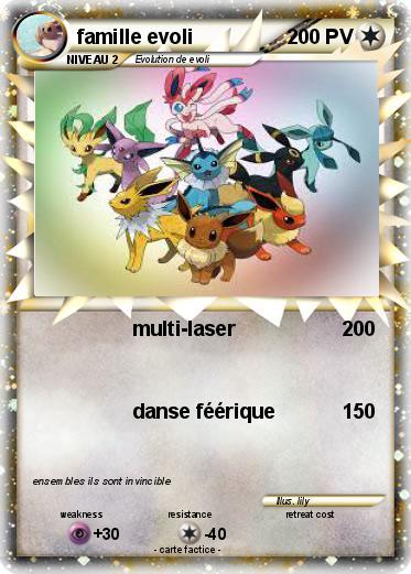 Pok mon famille evoli 55 55 multi laser ma carte pok mon - Famille evoli pokemon ...