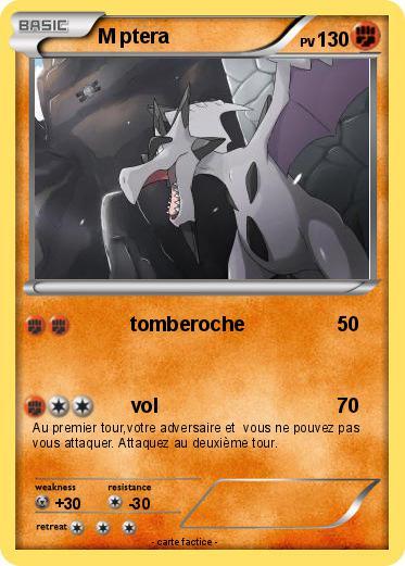 Pok mon m ptera 7 7 tomberoche ma carte pok mon - Pokemon ptera ...