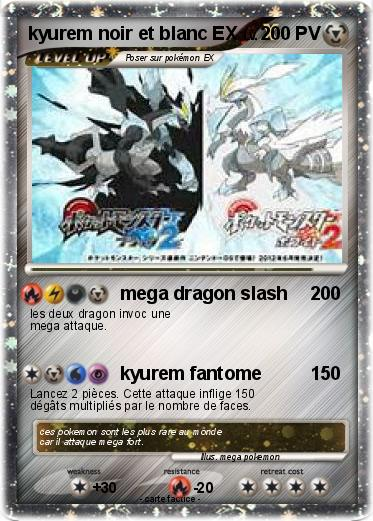 Pok mon kyurem noir et blanc ex 2 2 mega dragon slash - Carte pokemon kyurem blanc ex ...