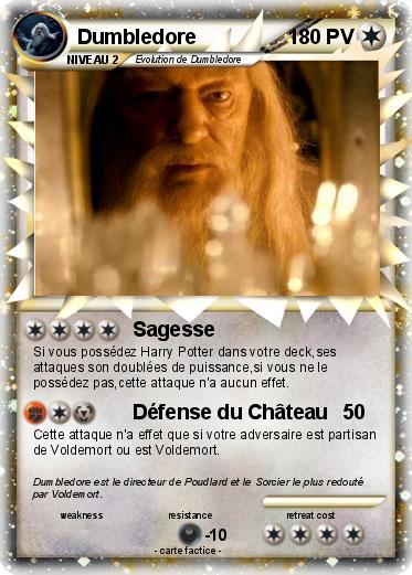 Pok mon dumbledore 22 22 sagesse ma carte pok mon for Dans harry potter comment s appelle le directeur