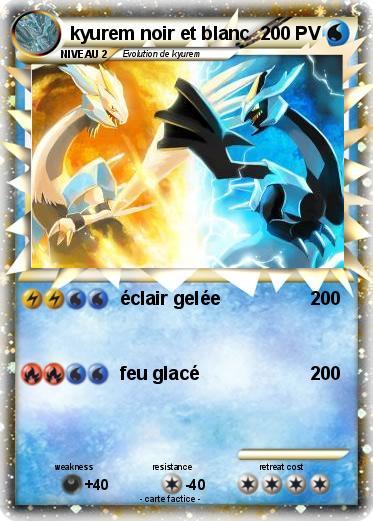 Pok mon kyurem noir et blanc 3 3 clair gel e ma carte - Pokemon legendaire blanc 2 ...