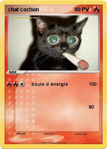Pok mon chat cochon boule d nergie 0 ma carte pok mon - Cochon pokemon ...