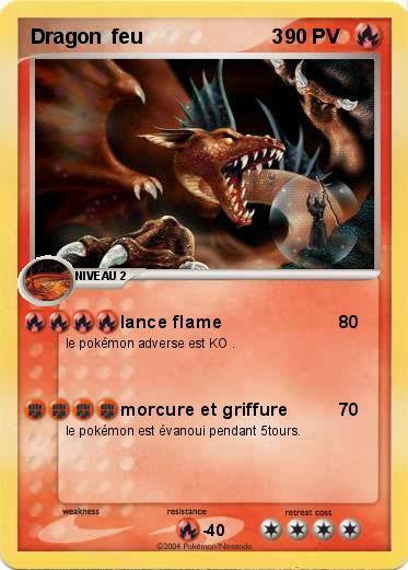 Pok mon dragon feu 3 3 lance flame ma carte pok mon - Carte pokemon dragon ...