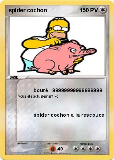 Pok mon spider cochon 26 26 bour 99999999999999999 ma - Cochon pokemon ...
