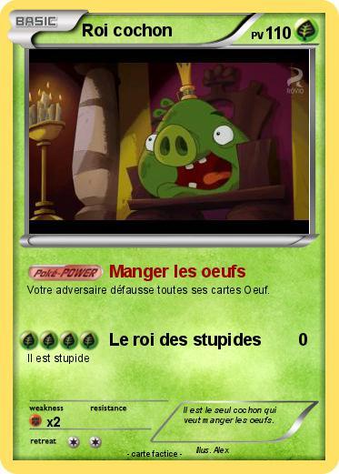 Pok mon roi cochon 2 2 manger les oeufs ma carte pok mon - Cochon pokemon ...