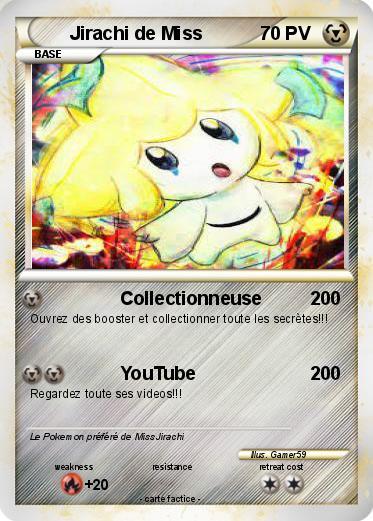 Pok mon jirachi de miss collectionneuse ma carte pok mon - Carte pokemon jirachi ...