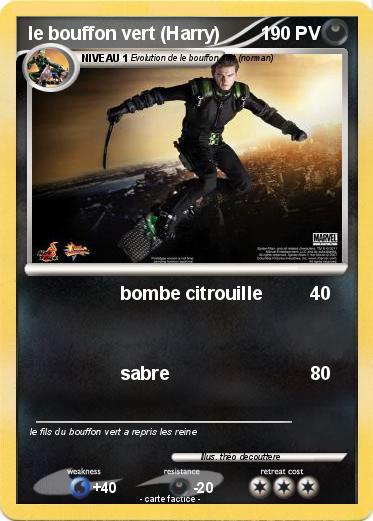 Pok mon le bouffon vert harry bombe citrouille ma carte pok mon - Bouffon vert coloriage ...