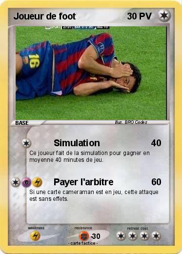 Pok mon joueur de foot 2 2 simulation ma carte pok mon - Image de joueur de foot a imprimer ...