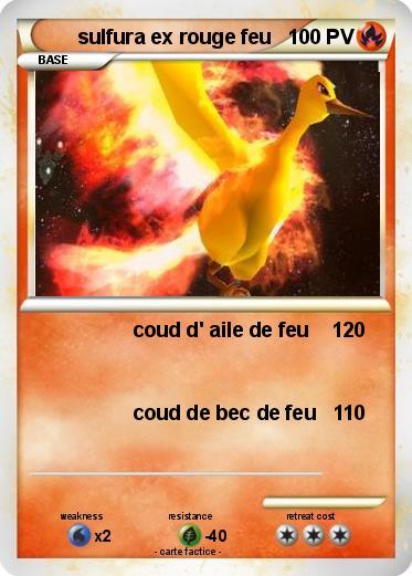 Pok mon sulfura ex rouge feu coud d 39 aile de feu 1 ma - Sulfura pokemon rouge ...