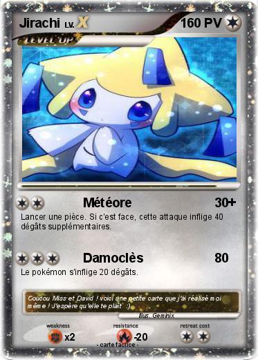 Pok mon jirachi 1080 1080 m t ore ma carte pok mon - Carte pokemon jirachi ...
