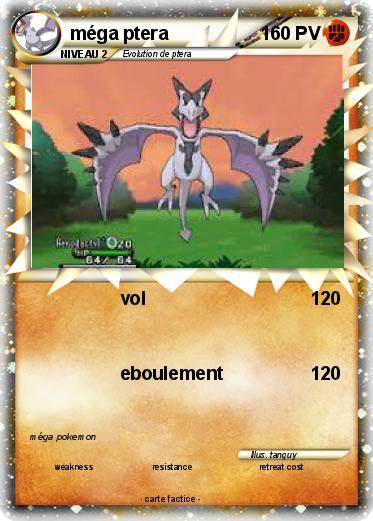 Pok mon mega ptera 1 1 vol ma carte pok mon - Pokemon ptera ...