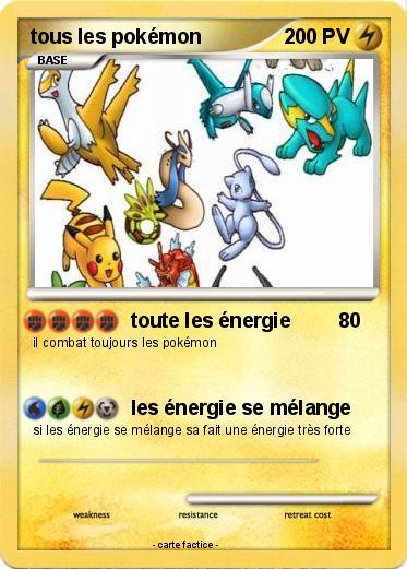Pok mon tous les pokemon 4 4 toute les nergie ma - Toute les evolution pokemon ...