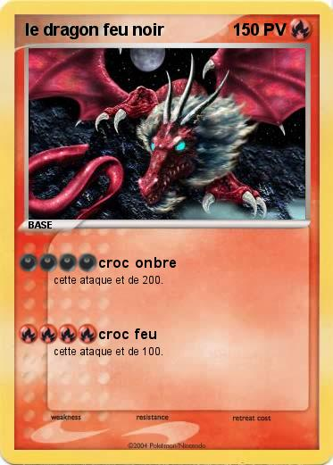 Pok mon le dragon feu noir croc onbre ma carte pok mon - Pierre feu pokemon noir ...