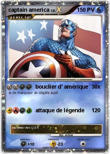 Pok mon captain america 84 84 bouclier d 39 am rique ma - Bouclier capitaine america ...