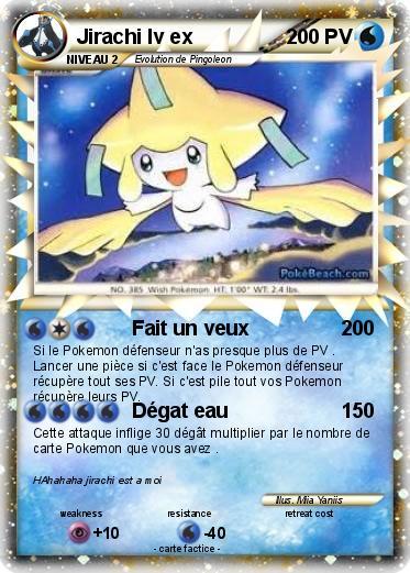 Carte pokemon jirachi - Carte pokemon jirachi ...