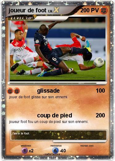 Pok mon joueur de foot 3 3 glissade ma carte pok mon - Image de joueur de foot a imprimer ...
