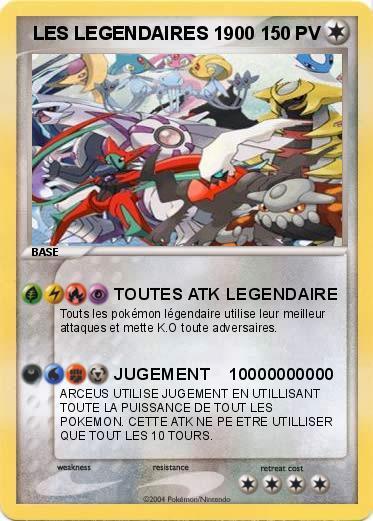 Pok mon les legendaires 1900 1900 toutes atk legendaire ma carte pok mon - Image pokemon legendaire ...