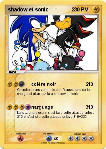 Pok mon shadow et sonic 2 2 col re noir 2 ma carte pok mon - Sonic et shadow ...