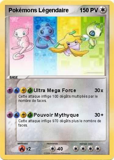 Carte pokemon legendaire - Pokemon legendaire ...