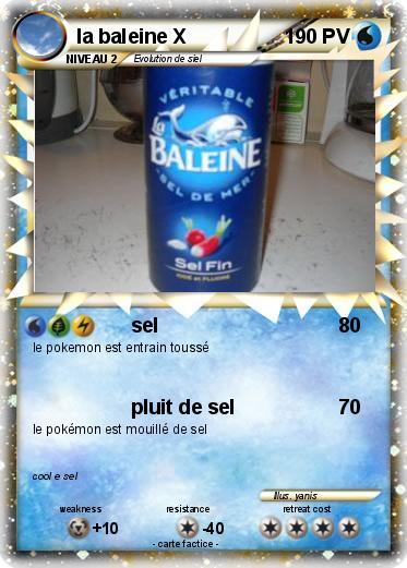 Pok mon la baleine x sel ma carte pok mon - Pokemon baleine ...