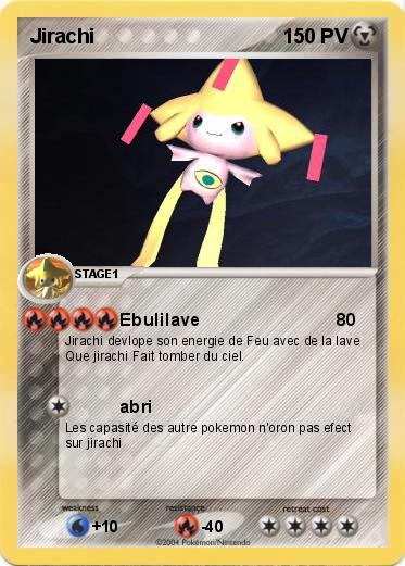 Pok mon jirachi 223 223 ebulilave ma carte pok mon - Carte pokemon jirachi ...