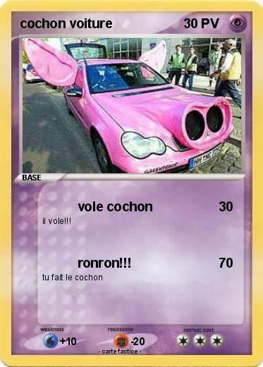 Pok mon cochon voiture vole cochon ma carte pok mon - Cochon pokemon ...
