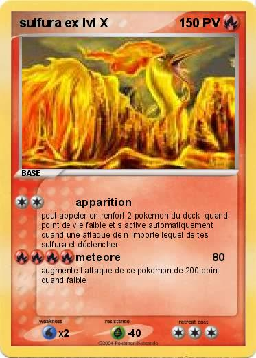 Carte pokemon sulfura ex