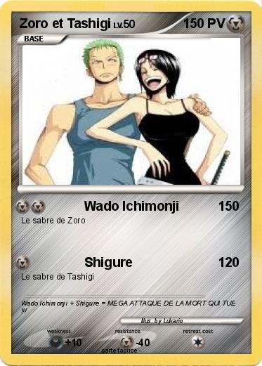 Pok mon zoro et tashigi wado ichimonji ma carte pok mon - Sabre de zoro ...
