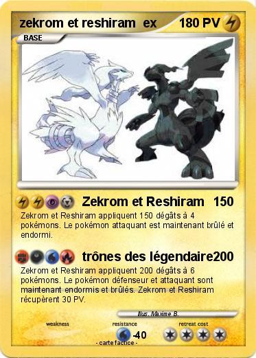 Pok mon zekrom et reshiram ex zekrom et reshiram ma carte pok mon - Carte pokemon a imprimer ...