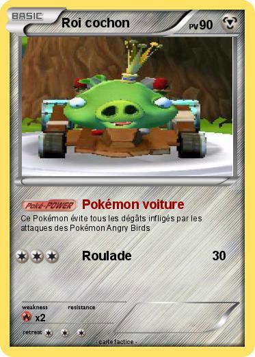 Pok mon roi cochon 1 1 pok mon voiture ma carte pok mon - Cochon pokemon ...