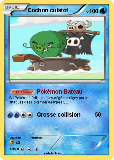 Pok mon cochon cuistot pok mon bateau ma carte pok mon - Cochon pokemon ...