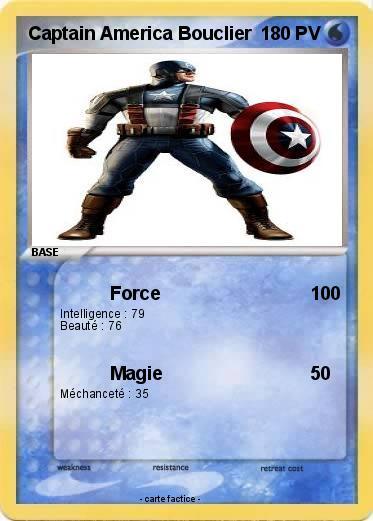 Pok mon captain america bouclier force ma carte pok mon - Bouclier capitaine america ...
