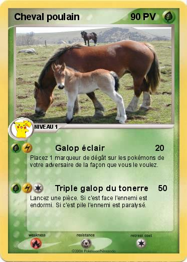 Pok mon cheval poulain galop clair ma carte pok mon - Dessin de poulain a imprimer ...